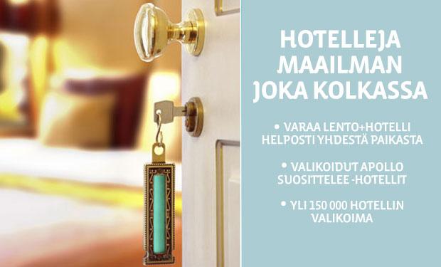 Hotellit ympäri maailmaa. Nyt myös pelkät hotellit Apollomatkoilta. Tutustu ja varaa tästä.
